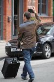 Andrew Lancel  arrives at the Coronation Street...