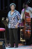 Dianne Reeves performing on stage at the Queen...