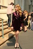 Emma Roberts attends the Ferragamo presentation for their...
