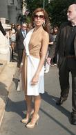 Eva Mendes Ferragamo presentation for their Resort 2012...
