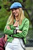 Heather Morris On location for 'Glee' in Manhattan's...