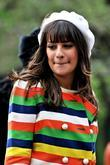 Lea Michele On location for 'Glee' in Manhattan's...