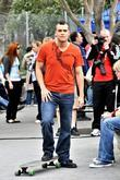 Mark Salling On location for 'Glee' in Manhattan's...