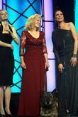 Kristin Bauer, Michelle Forbes and Beverly Hilton Hotel