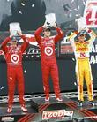 Scott Dixon, Dario Franchitti and Ryan Hunter-Reay Honda...