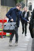 Jamie Hince leaving Kate Moss's home in London...