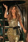 Jennifer Lopez rides into The Grove on a...