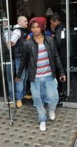 Aston Merrygold JLS spotted leaving Nando's restaurant in...