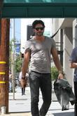 Joe Manganiello walking around Beverly Hills Los Angeles,...