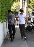 Kevin and Joe Jonas leave Urth Caffe in...