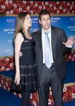 Adam Sandler with his wife Premiere of 'Just...