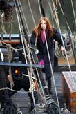 Karen Gillan Karen Gillan on the film set...