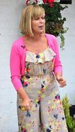 Kate Garraway films for 'Daybreak' at the Cottage...