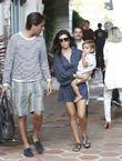 Kourtney Kardashian, Scott Disick and their son Mason...