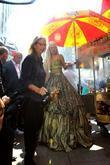 Annie Leibovitz and Lady Gaga are seen on...