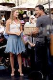 Lauren Bush and Mario Lopez