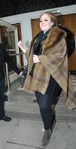 Adele Celebrities at BBC Maida Vale studios for...