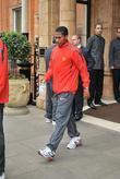 Antonio Valencia leaves his London hotel along with...