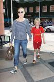 Maria Bello and her son Jackson Blue McDermott...