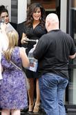 Marie Osmond greets fans as she leaves the...