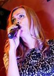 London based Russian singer Marina Lazlo performs live...