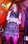 London based Russian singer Marina Lazlo perform live...