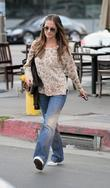 Minka Kelly leaves Kings Road Cafe after having...