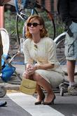 Kelli Garner  on the set of 'Pan...
