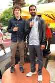 Jesse Eisenberg and Aziz Ansari