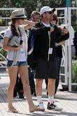 Christian Slater and Tamara Mellon