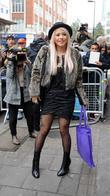 Amelia Lily leaving the BBC Radio 1 studios...
