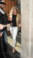 Cameron Diaz  leaving the BBC Radio 1...