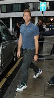 Chris Martin of Coldplay outside the BBC Radio...