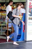 Rebecca Gayheart   stopping at a gas...