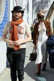 Sean Lennon and his girlfriend Charlotte Kemp...