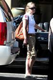 Sharon Stone with her black Bentley convertible Los...
