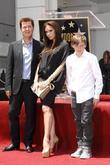 Simon Fuller, Brooklyn and Victoria Beckham