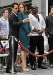 Marc Anthony, Jennifer Lopez and Randy Jackson