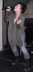 American singer/songwriter, Skylar Grey, performing her first gig...