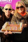 Annie Lennox and Gaby Roslin