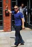 Gary Barlow Take That leaving their hotel Manchester,...