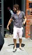 Howard Donald Take That leaving their hotel Manchester,...