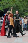 Chris Hemsworth, Jeremy Renner, Scarlett Johansson and Tom Hiddleston
