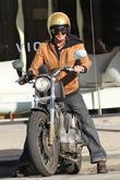 Timothy Olyphant out riding his motorcycle in Hollywood...