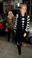 Billie Faiers and Samantha Faiers arriving at a...
