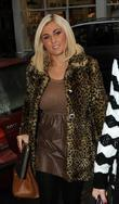 Billie Faiers arriving at a meeting in central...