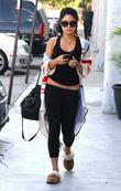 Vanessa Hudgens goes shopping for groceries at Trader...