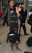 Vanessa Hudgens arriving at Heathrow Airport, ahead of...