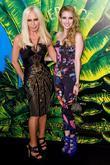 Donatella Versace and Emma Roberts