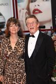 John Hurt and his wife Anwen Rees Meyers...